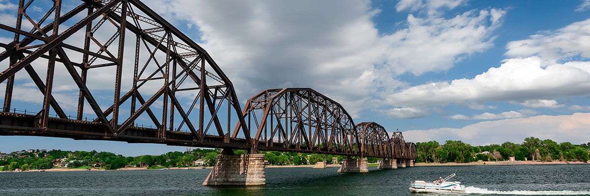 The Missouri River in Pierre, SD is open year-round.